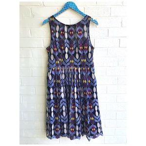 Anthro Maeve Chelan Tulle Floral Pocket Dress